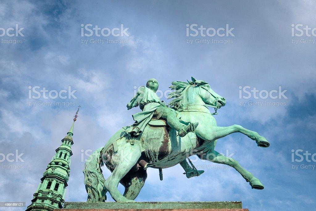 Copenhagen: Bishop Absalon statue stock photo