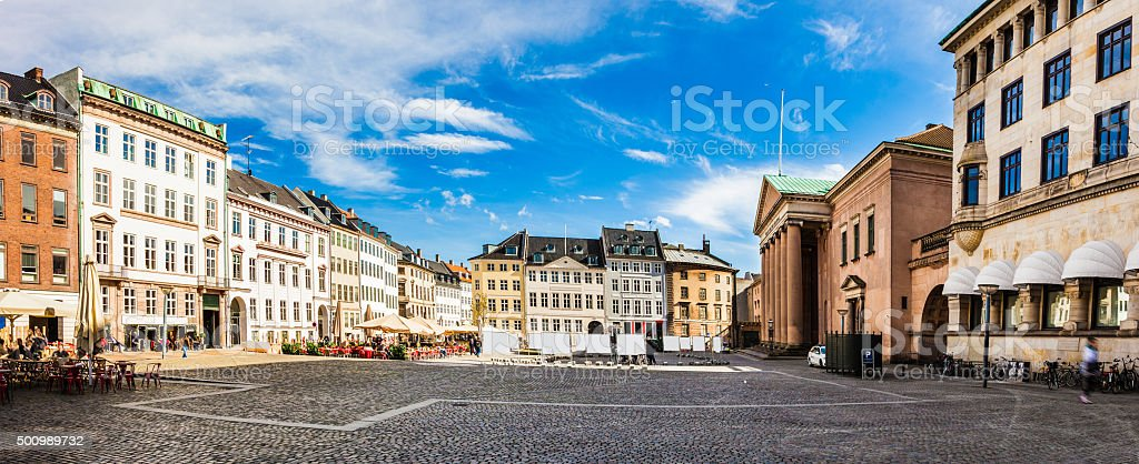 Copenhagen city center and old town square stock photo