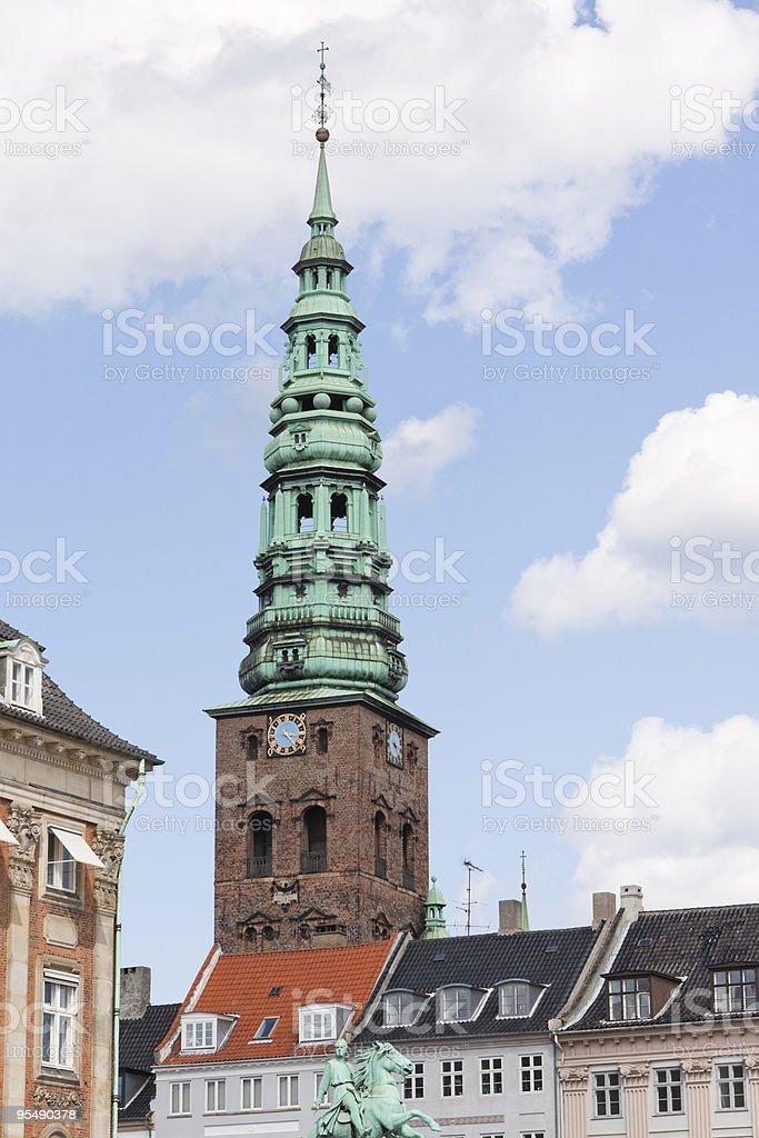 Copenhagen Clock Tower stock photo