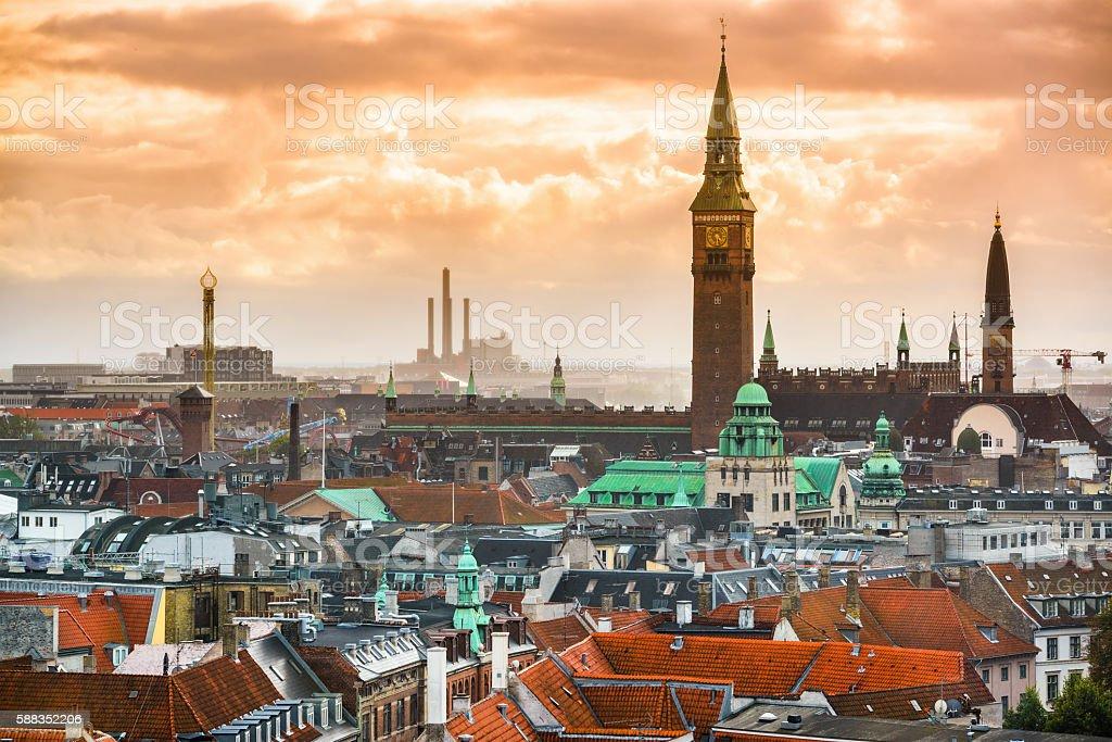 Copenhagen, Denmark Cityscape stock photo