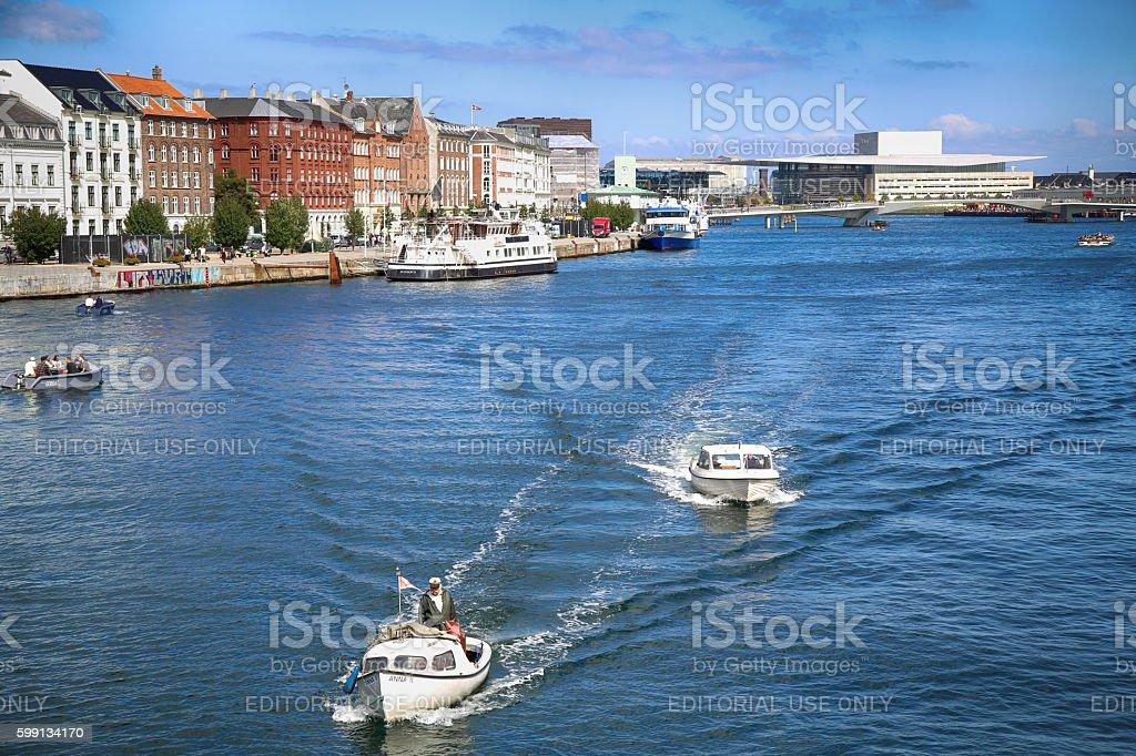 Copenhagen, Denmark from Knippelsbro bascule bridge stock photo