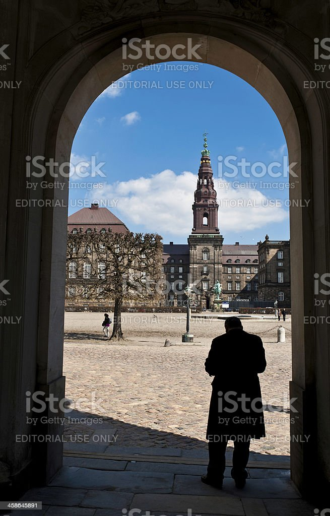 Copenhagen Folketing parliament entrance Denmark stock photo