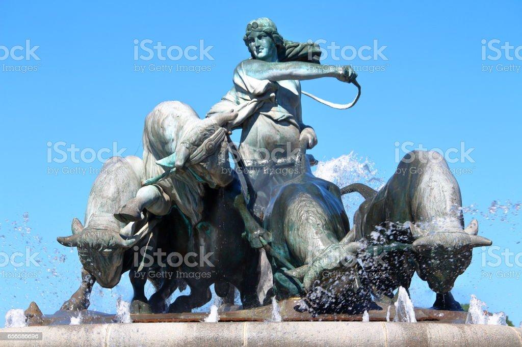 Copenhagen fountain stock photo