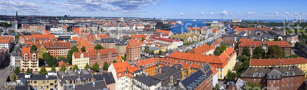 Copenhagen from above royalty-free stock photo