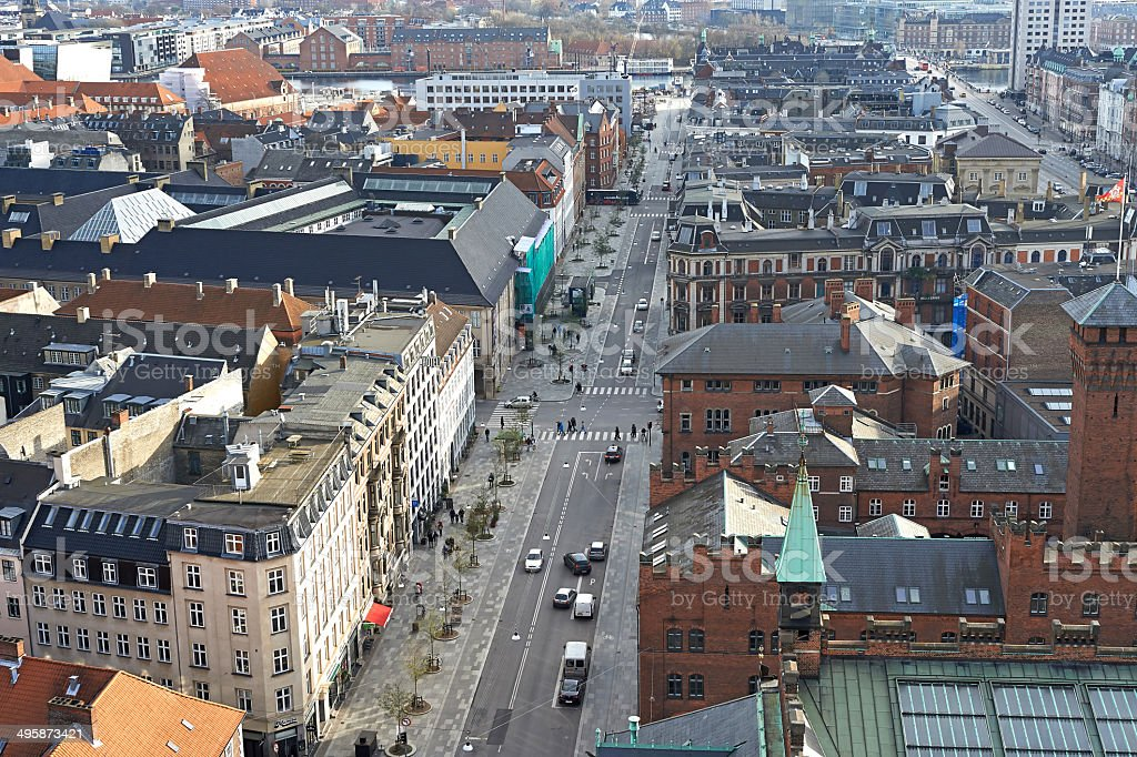 Copenhagen from above stock photo