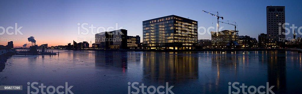Copenhagen Harbor panorama stock photo