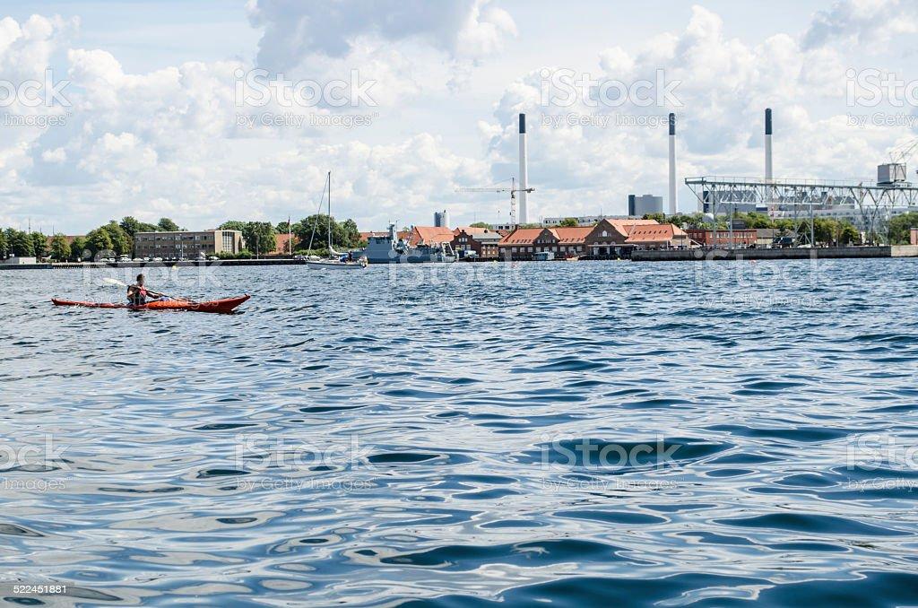 Copenhagen harbour stock photo