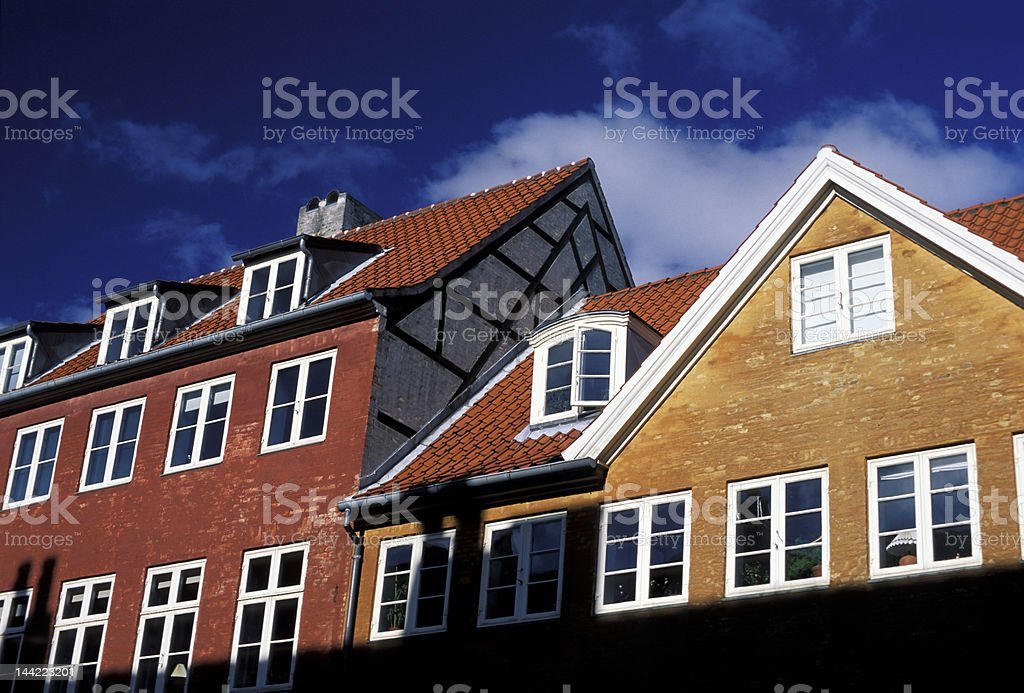 Copenhagen houses royalty-free stock photo