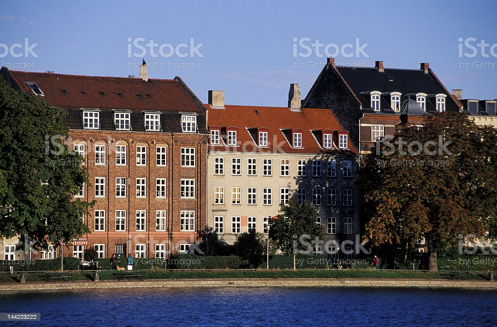Copenhagen houses royalty-free stock photo