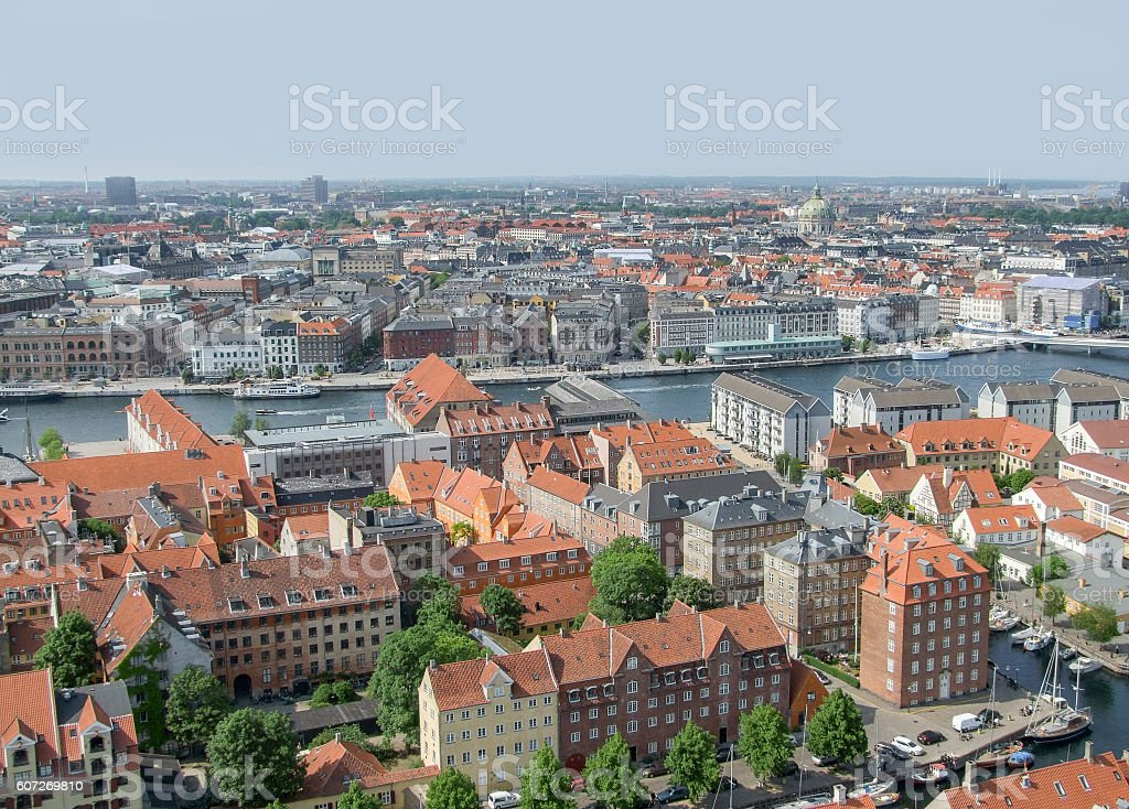Copenhagen in Denmark stock photo