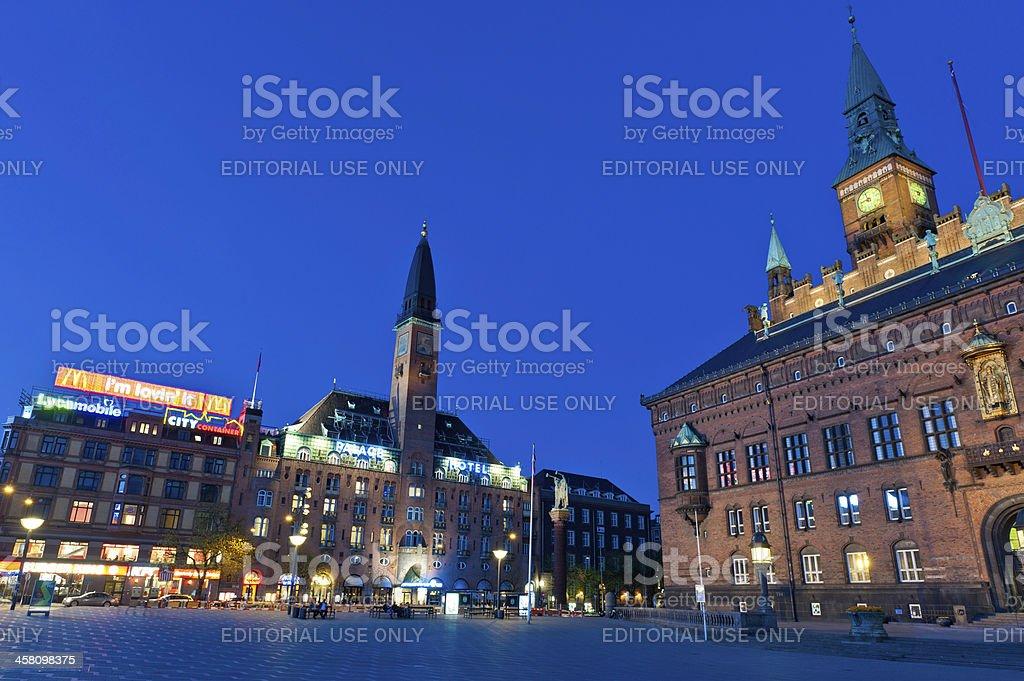 Copenhagen Københavns Rådhus City Hall Square royalty-free stock photo