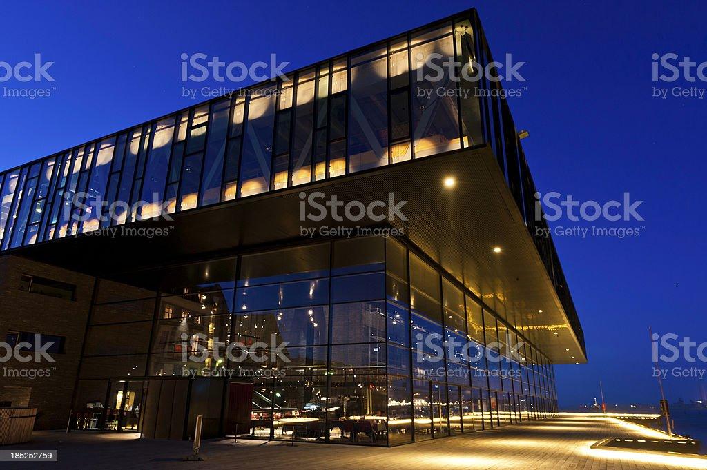 Copenhagen modern theatre on waterfront royalty-free stock photo