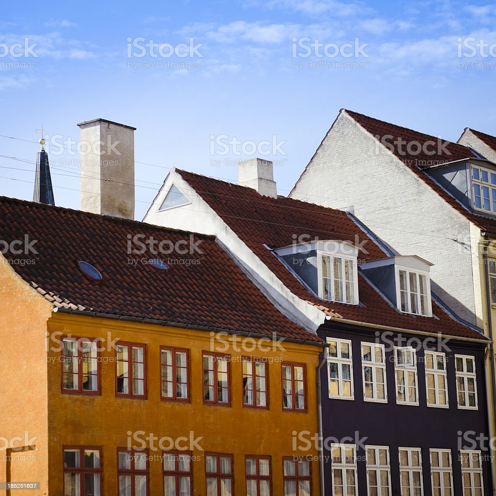 Copenhagen multicolored house facade - Denmark royalty-free stock photo