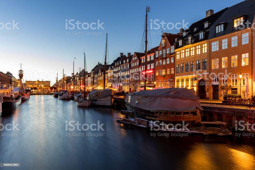 Copenhagen Nyhavn Denmark stock photo