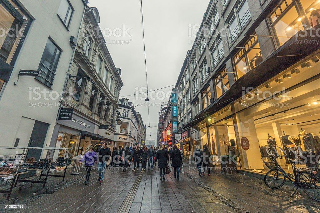 Copenhagen Nyhavn district stock photo