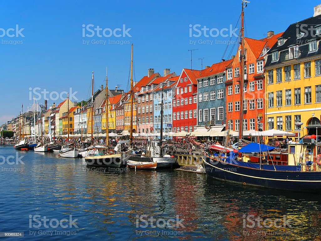 Copenhagen, Nyhavn stock photo