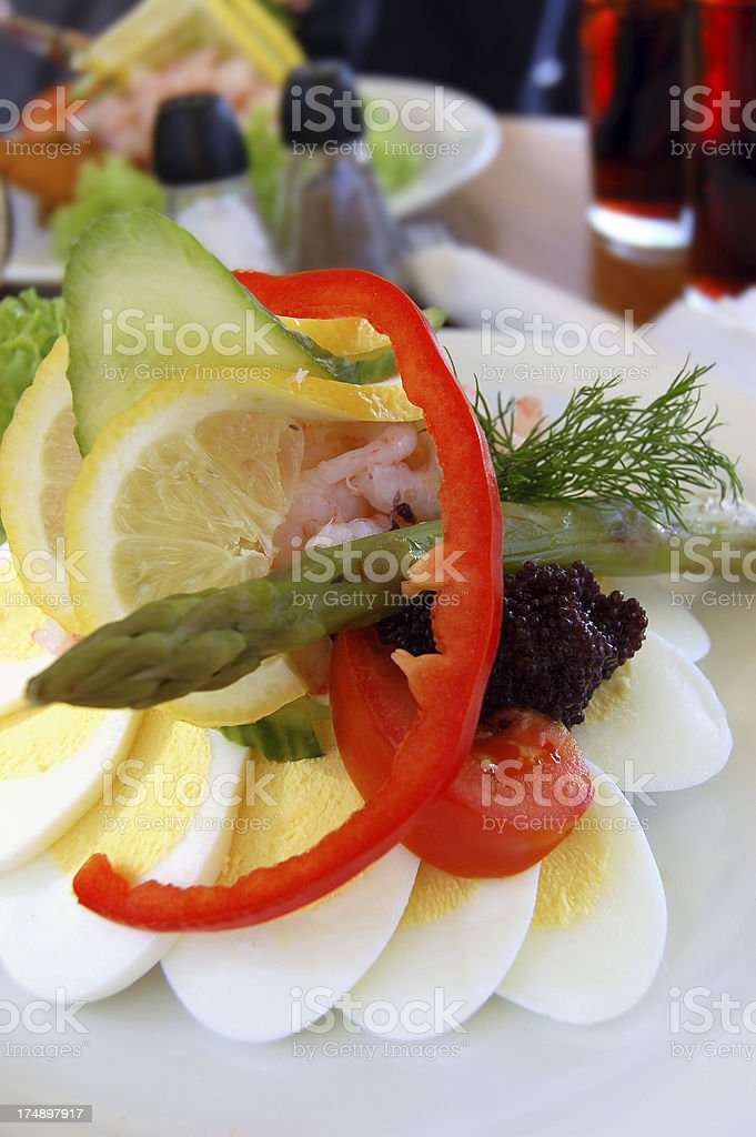 Copenhagen open-faced sandwich royalty-free stock photo