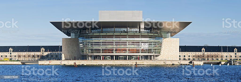 Copenhagen Opera House blue harbour waterfront panorama Denmark royalty-free stock photo