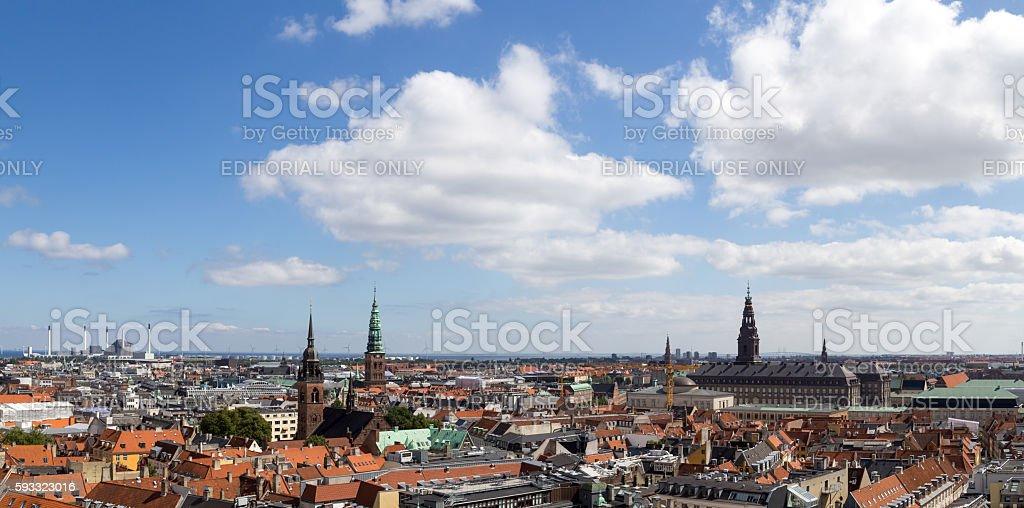 Copenhagen panoramic view stock photo