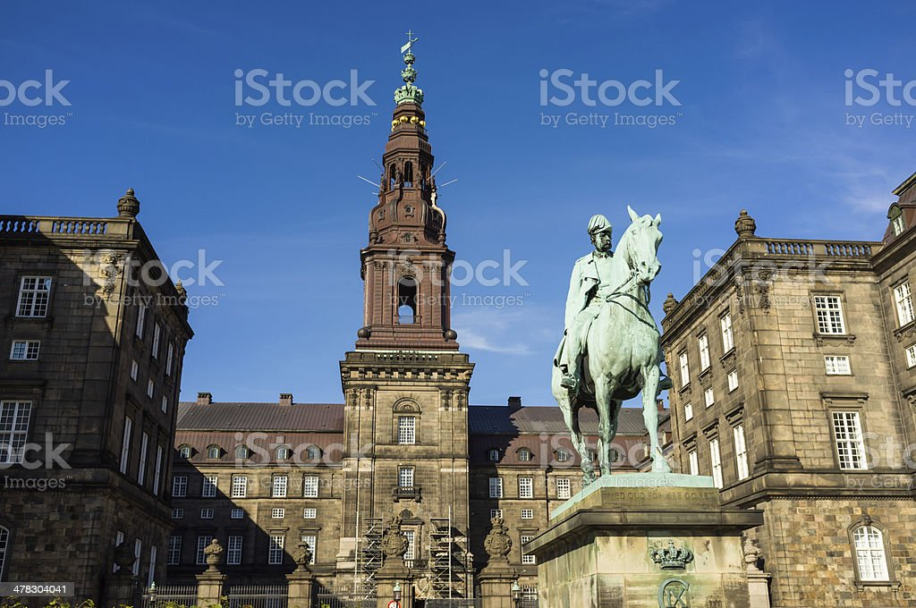 Copenhagen rooftop landmarks Denmark royalty-free stock photo