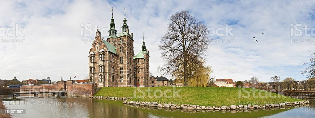 Copenhagen Rosenborg Castle Kongens Have panorama Denmark stock photo