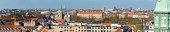 Copenhagen Rosenborg rooftops and rotundas cityscape panorama Denmark