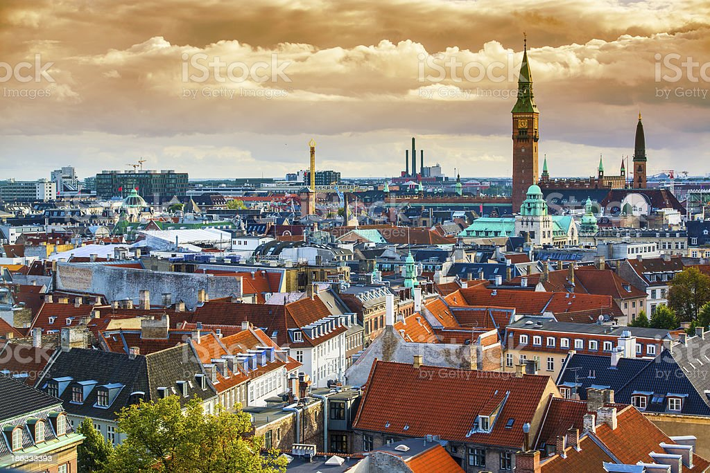 Copenhagen Skyline stock photo