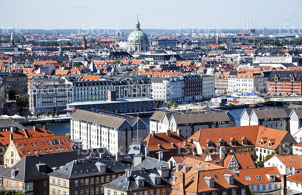 Copenhagen skyline royalty-free stock photo