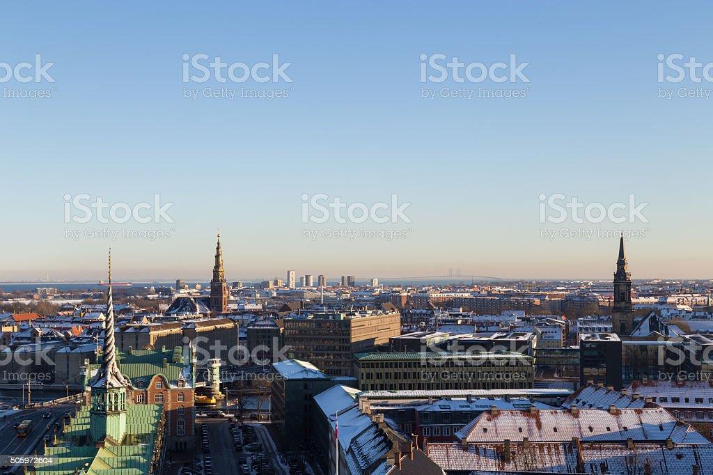 Copenhagen Skyline View stock photo
