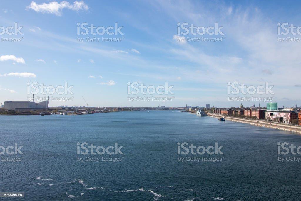 Copenhagen, the capital of Denmark. stock photo
