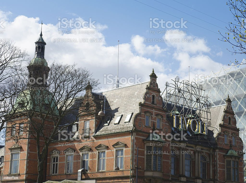 Copenhagen Tivoli entrance of Luna Park - Denmark royalty-free stock photo