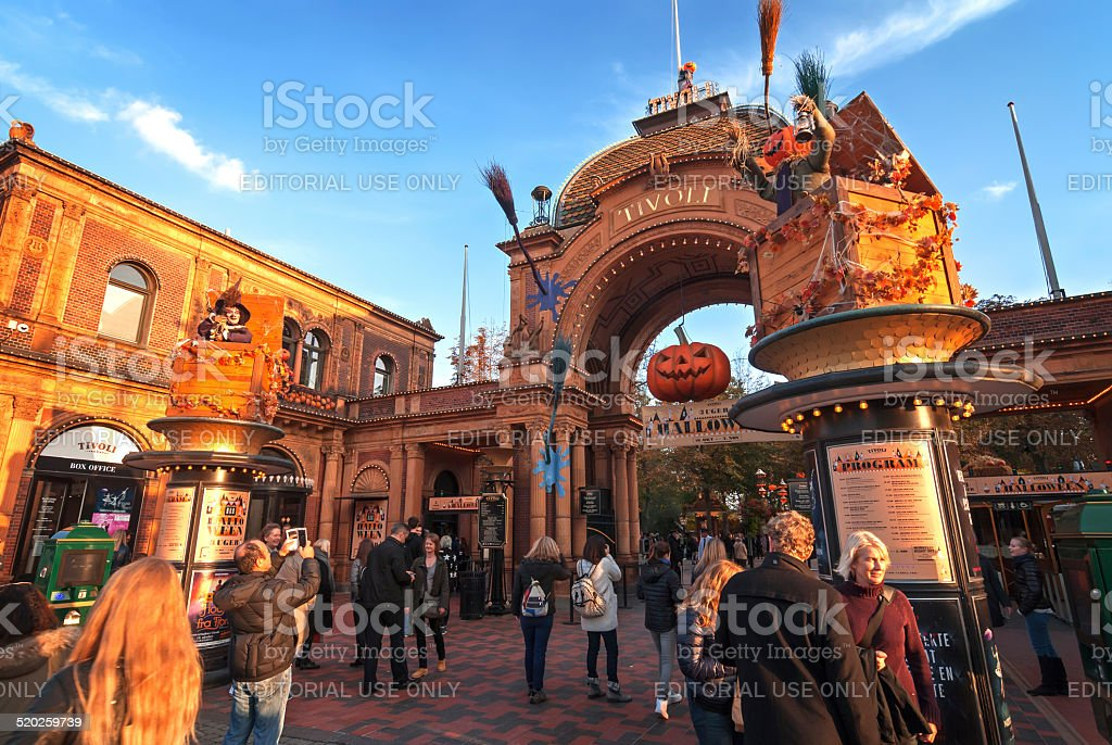 Copenhagen, Tivoli entrance stock photo