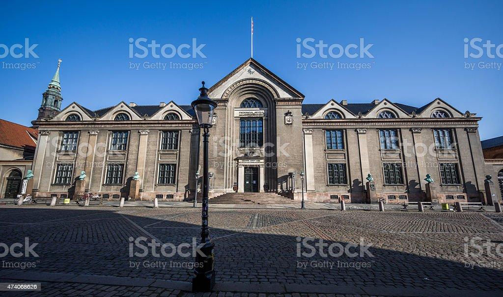 Copenhagen University main building, Copenhagen, Denmark stock photo