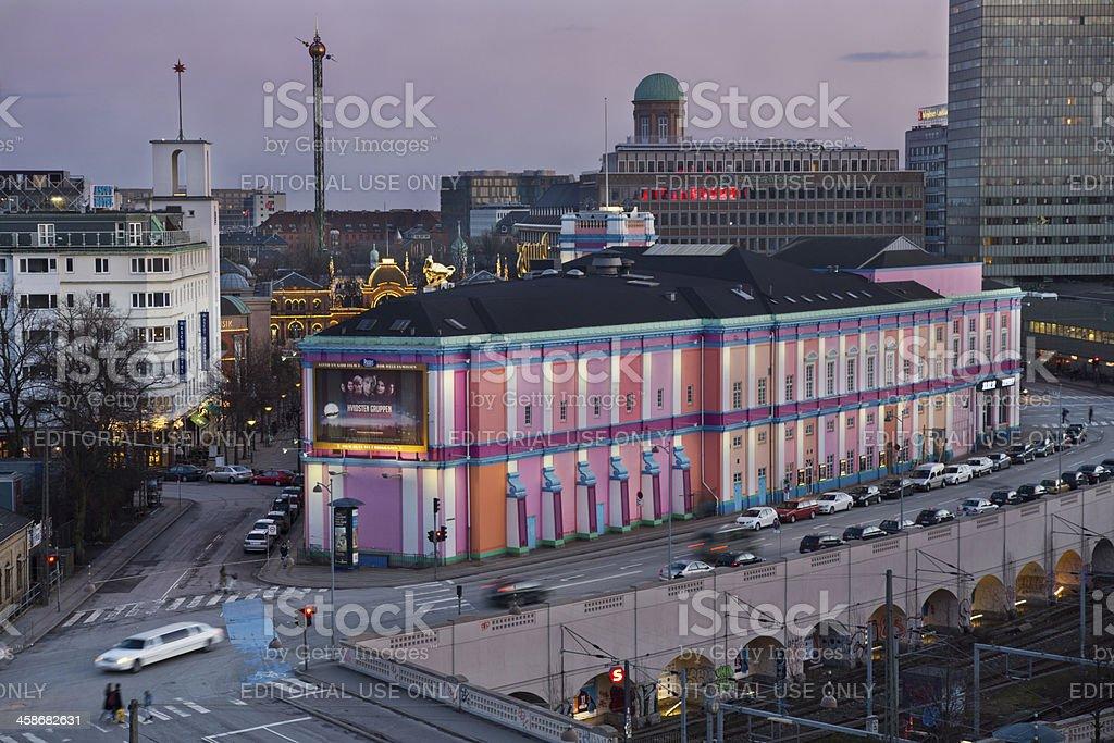 Copenhagen Vesterport Station / Palads cinema stock photo