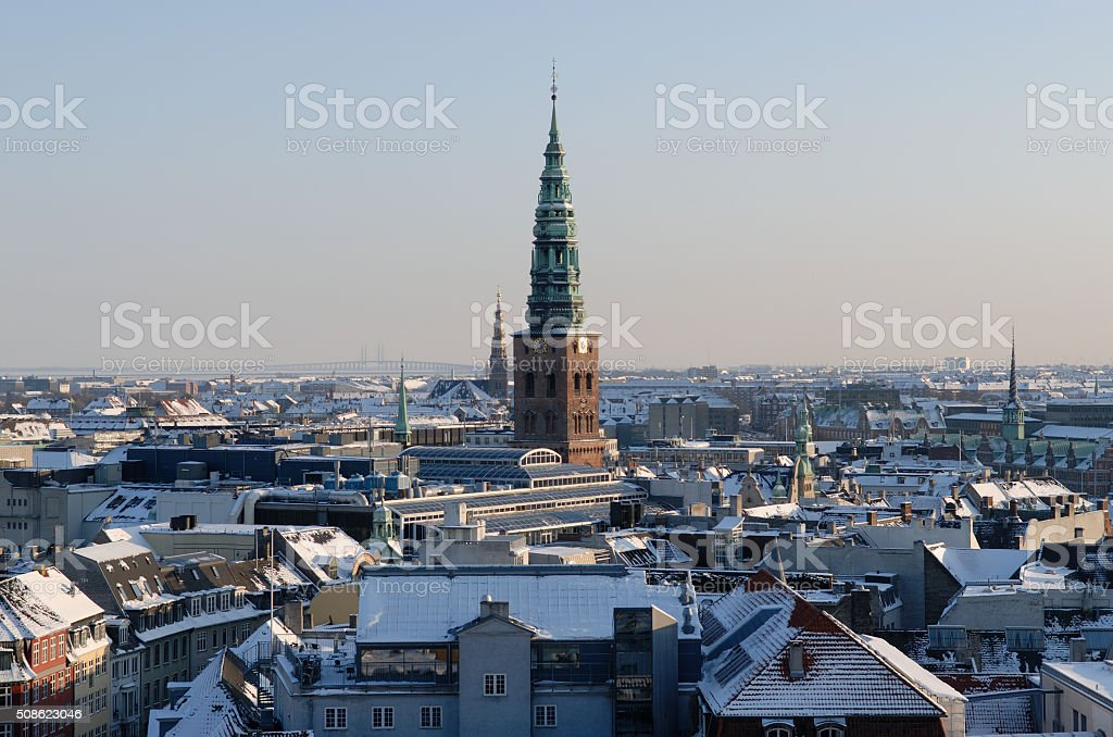 Copenhagen Winter Cityscape stock photo