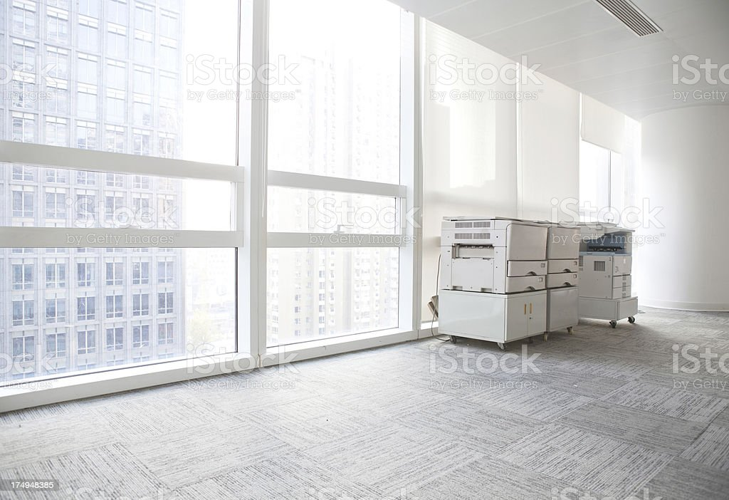copier in an office floor royalty-free stock photo
