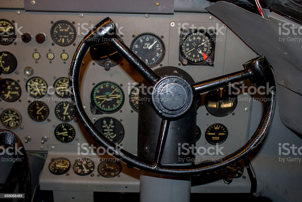 Copilot Cockpit stock photo