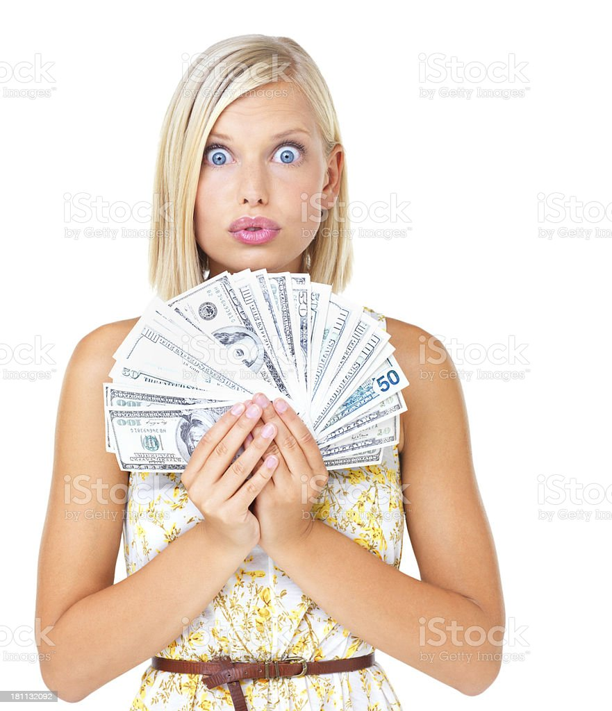 Coping with cash royalty-free stock photo