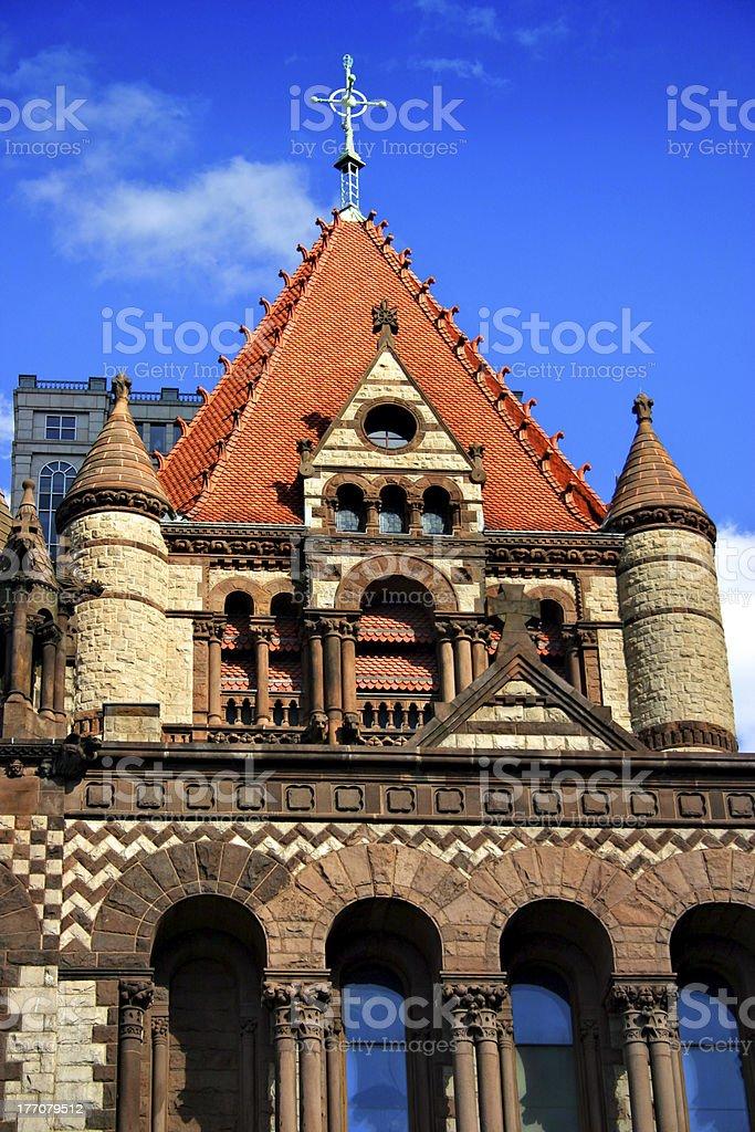 Copley Square, Boston royalty-free stock photo