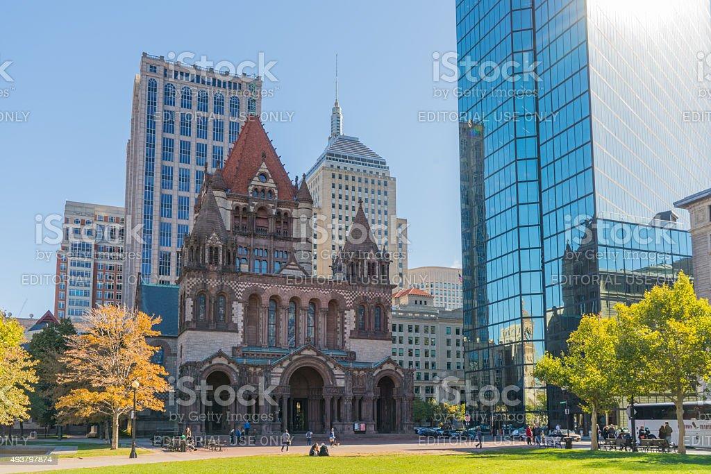 Copley Square - Boston stock photo