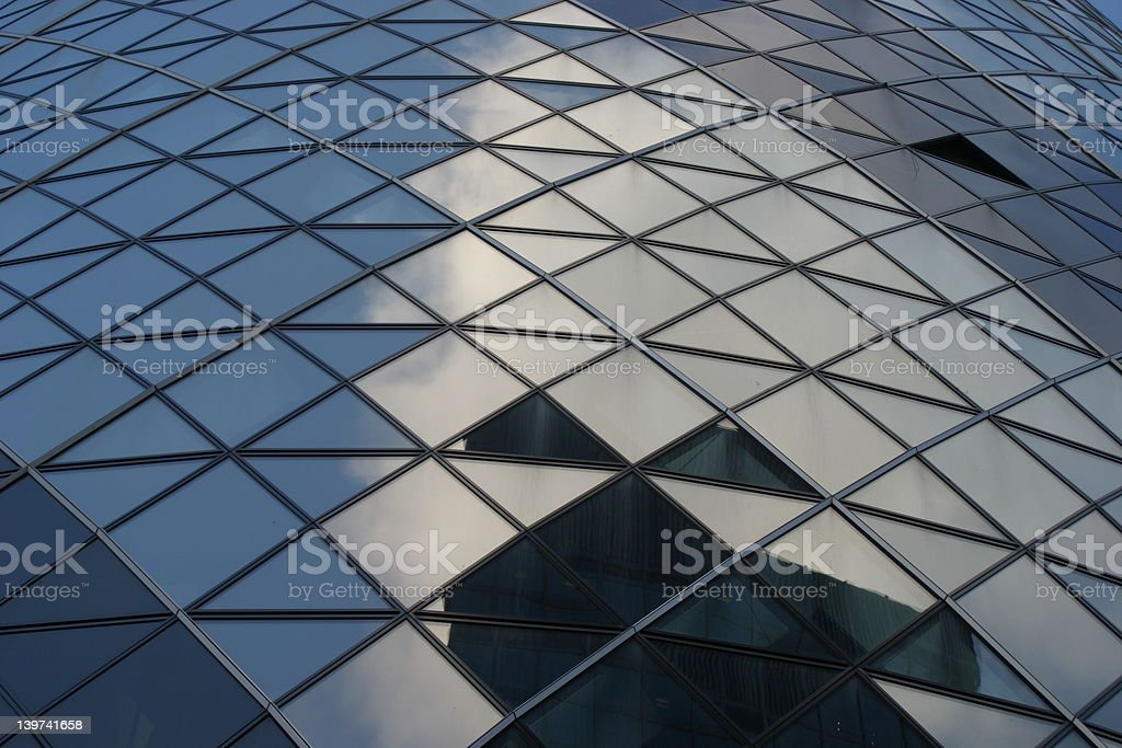 Coporate Reflection royalty-free stock photo