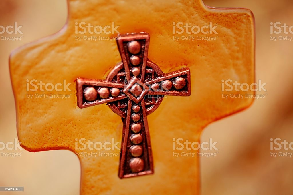 Copper & Amber Cross royalty-free stock photo