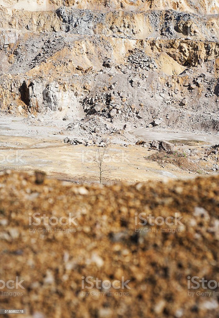 Copper and Gold Quarry stock photo