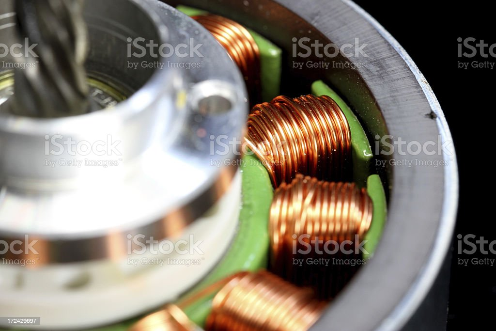 Copper and Spin stock photo