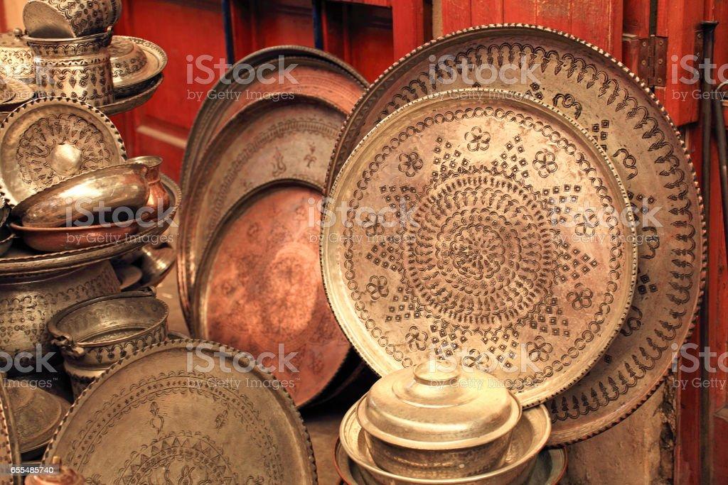 Copper Bazaar in Gaziantep stock photo