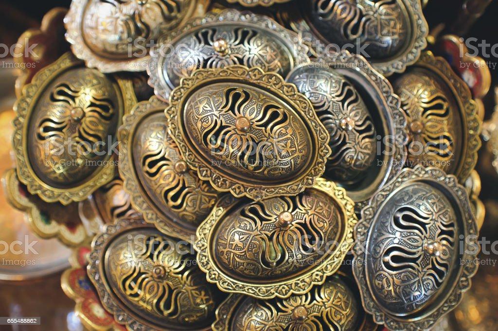 Copper Bazaar in Gaziantep, Turkey stock photo
