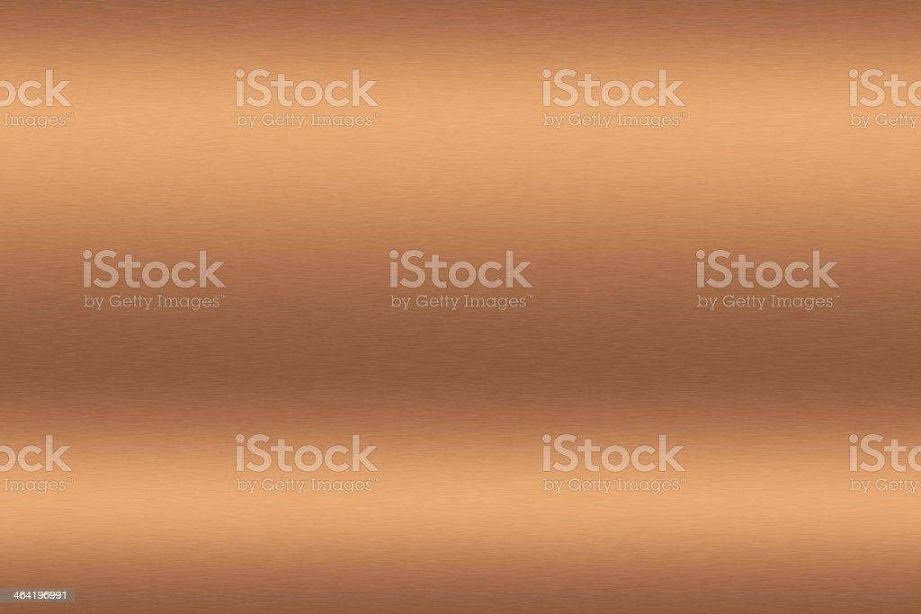 Copper brushed metal to be used as background stock photo