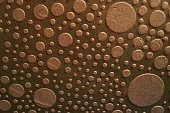 Copper Bubbles Background or Abstract