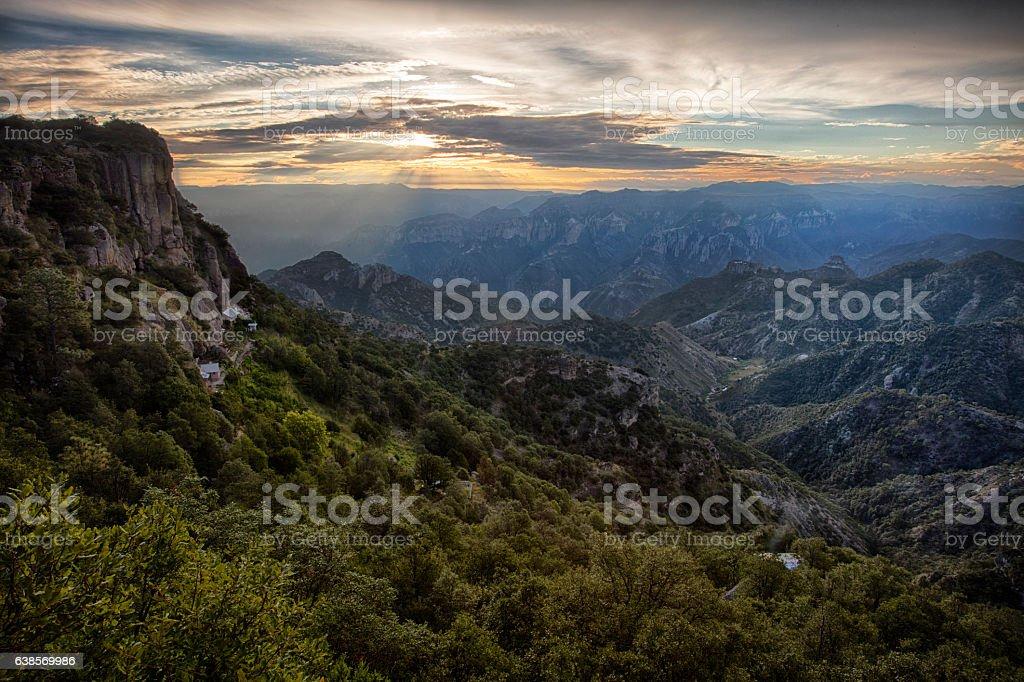 Copper Canyon, Barrancas del cobre, Mexico stock photo