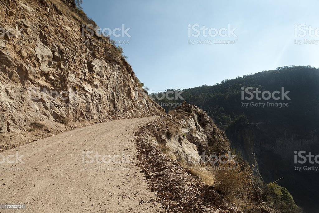 Copper Canyon road stock photo
